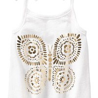 Old Navy Foil Butterfly Tanks For Baby