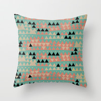 triangles Throw Pillow by spinL | Society6