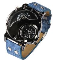 Unique Mens Military Leather Watch Unisex Casual Mountaineering Racing Sports Watches + Beautiful Gift