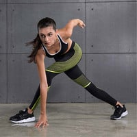 Gym Outfit Leggings Yoga Training Running Tight Exercise Sportwear Women Fitness Sports Suit Workout Long Pants Clothing Sets