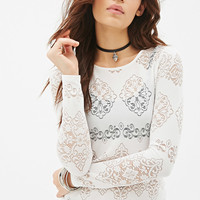 Baroque Pattern Lace Top