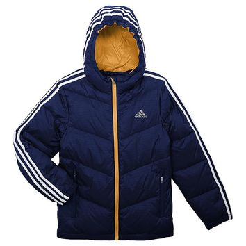 adidas Embossed Down Puffer Jacket - Boys 8-20, Size: