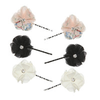 6 On Chiffon Flower Clips   Shop Accessories at Wet Seal
