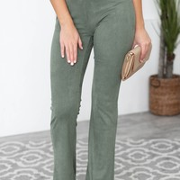 Too Sweet Flared Ribbed Pants