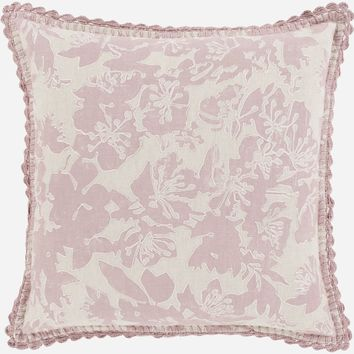 Evelyn Throw Pillow Gray, Pink