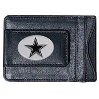 Dallas Cowboys NFL Football Team Leather Card Holder Money Clip Wallet