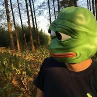 Sad Pepe The Frog Latex Mask for Halloween, parties, festivals, concerts- 50 % OFF