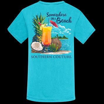 Southern Couture Somewhere On Beach Comfort Colors T-Shirt