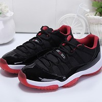 Air Jordan 11 Retro Low Bred AJ11 Sneakers