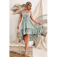 Opposites Attract Dress (Dusty Sage)