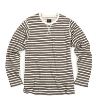 Striped French Terry Long Sleeve Green