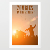 Zombies In The Garden Art Print by Liam Liberty