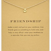 Tiny Ship's Anchor Card Alloy Clavicle Pendant Necklace   171212
