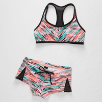 HURLEY Static Girls Crop/Boyshort Bikini Set | Swimsuits