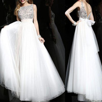 158USD Promotion!! Sweety 16, High Class Hand Weave shining Beading, Prom Dress, White color, party dress for girl, sexy & fashion, cocktail