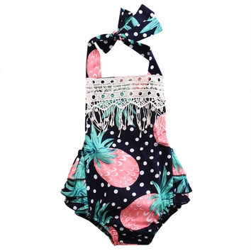 Tassel Pineapple baby clothing Romper Newborn Infant Baby Girl Romper Jumpsuit Outfits Sunsuit Clothes