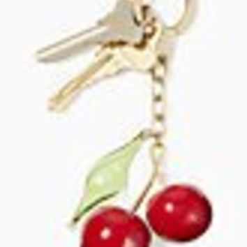 jeweled cherries keychain