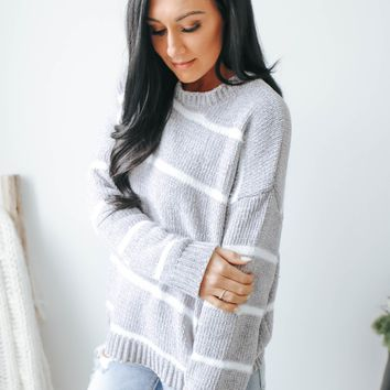 Everything About It Sweater - Grey