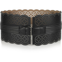 Alaïa Perforated leather waist belt – 80% at THE OUTNET.COM