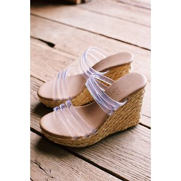 Fancy Braided Jute Platform Wedge, Clear Natural | Coconuts by Matisse