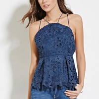 Pleated Crochet Cami