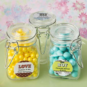 Glass Jars With Lids: Personalized Classic Apothecary Glass Jar - Marquee