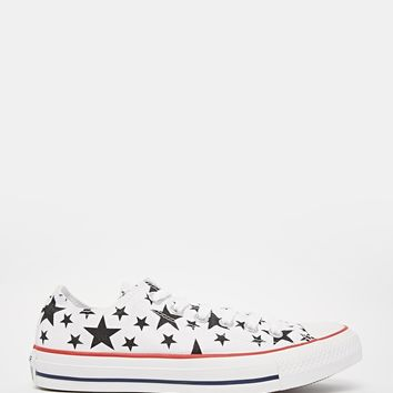 Converse Star Print Chuck Taylor All Star Plimsoll Trainers