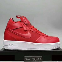 Nike Air Force 1 Ultraforce Mid AF1 Trending Casual Women Men High Tops Sport Running Sneakers Shoes Red G-XYXY-FTQ