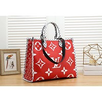 Louis Vuitton LV Hot Sale Women Leather Tote Crossbody Satchel Shoulder Bag Handbag Red