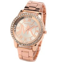 MK Trending Women Men Personality Watch Shell Diamond Quartz Wrist Watch