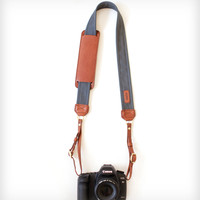 Canvas & Leather Camera Strap – Graphite
