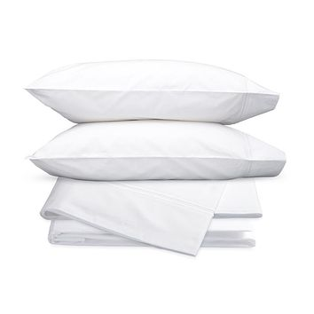 Essex White Embroidered Hotel Sheet Set by Matouk