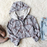 Snowy Falls Plaid Top
