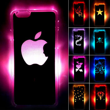 LED LCD Color Changed Case Cover for Apple iPhone 6