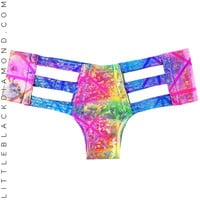 Kaleidoscope Hologram Cutout Bottoms