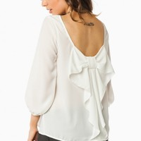 PIPPA BOW BLOUSE IN IVORY
