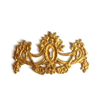 Vintage Danish Brass Keyhole Plate - Four Available
