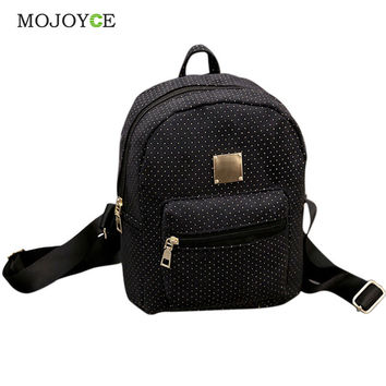 Mojoyce Dot Pu Backpacks Women Backpack