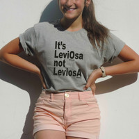 Its's Leviosa not Leviosa Harry potter shirt HP Magic Levitation Hermione Granger to Ron Weasley Magic Spell Gryffindor gift for boy girl