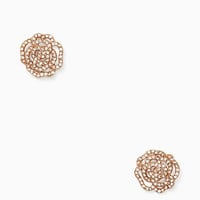 crystal rose studs