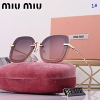 Miu Miu Fashion New Polarized Women Sunscreen Travel Leisure Glasses Eyeglasses 1#