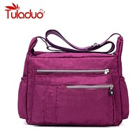 Women Water Proof Travel Messenger Bag With Multiple Storage Pockets