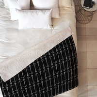 Allyson Johnson Black Arrows Fleece Throw Blanket