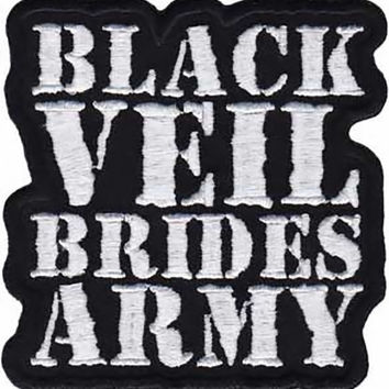 Black Veil Brides Army Iron-On Patch White Letters Logo