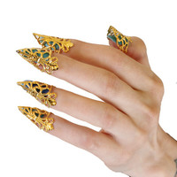 Claw Rings - Set of 5 - Gold - Gold