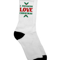 I F---ing Love Christmas Funny Adult Crew