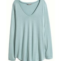 H&M+ Wide-cut Jersey Top - from H&M