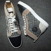DCCK2 Cl Christian Louboutin Suede Style #2243 Sneakers Fashion Shoes