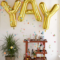 Gold Letter Party Balloon | Urban Outfitters