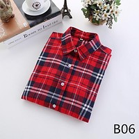 For Her: Medium - 5XL Plaid Flannel Long Sleeve Shirt